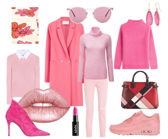 Pink kombinieren